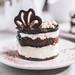 Close up to chocolate cake