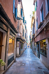Venice has very small streets as there are no cars permitted.