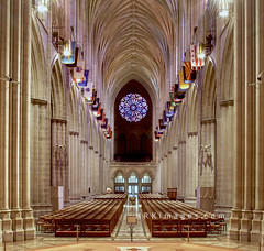 Washington National Cathedral - Nave (NRKimages) Tags: architecture gothic interior color washingtonnationalcathedral