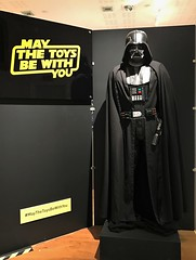 Darth Vader statue at the entrance to #MayTheToysBeWithYou at the Torquay Museum 19.08.17 (Trevor Bruford) Tags: star wars toy figure exhibition torquay museum maythetoysbewithyou