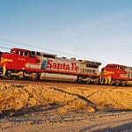 Santa Fe C41-8W No. 945 & C44-9W No. 621 On The Needles Sub thumbnail