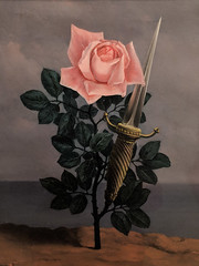 """""""The Blow to the Heart"""", Rene Magritte (1952) (Joey Hinton) Tags: sanfrancisco california unitedstates rene magritte exhibit museum modern art google pixel2 andriod smartphone cellphone cameraphone phone"""