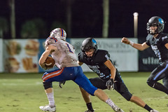 "PVHS v. Bolles '18-350 (mark.calvin33) Tags: football field sport ball ""high school"" ""ponte vedra high pvhs block tackle rush run pass catch receiver blocker ""running back"" quarterback fumble completion reception hike pitch snap ""friday night lights"" fans stands kick ""end zone"" ""nikon d7100"" 2018 win athletics athletes ""night photography"" ""sharks football"""