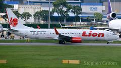 Lion Air Boeing 737-9GP/ER PK-LGV (StephenG88) Tags: singaporechangiairport singapore changi sin wsss terminal1 viewingmall boeing airbus 13918 91318 lionair jt lni 737 739 737900 737900er 7379gper pklgv