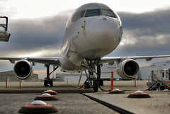 ready and waiting.... (GeorgeM757) Tags: georgem757 fedexexpress 757f kcle aircraft aviation airplane airport airfreight cargo artistic boeing canon