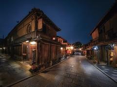 Starbucks (karinavera) Tags: city longexposure night photography urban ilcea7m2 street japan starbucks kyoto