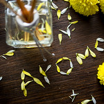 Aroma written with flower petals thumbnail