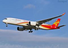 F-WZFD Airbus A350 Hong Kong Airlines (@Eurospot) Tags: fwzfd airbus a350 a350900 hongkongairlines toulouse blagnac blgh
