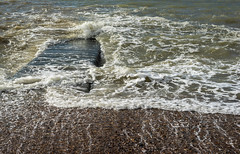 Crash, Rip & Gurgle (Cirrusgazer) Tags: brighton brightonhove beach churn foam pebbles sea shore splash tide water waves