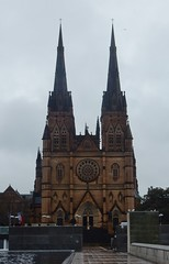 Twin Peaks: St Mary's Cathedral (mikecogh) Tags: sydney stmaryscathedral catholic church towers twin double gothic culture architecture worship belief