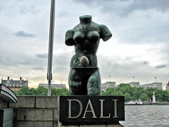 Sculpture in front of Dali Universe (Svetla (ribonka 78)) Tags: london travel europe sculpture statue
