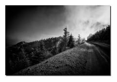 Paysage G34 Pb1 Sharp Bd Rd1 IMG_3074-2 (thierrybarre) Tags: badlands landscape mood graphisme lignes montagnes vieux érosion texture neige hiver highway hell montagne sommets enneigé