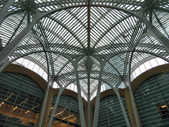 Brookfield Place, Toronto, Ontario (duaneschermerhorn) Tags: toronto ontario canada city urban downtown architecture building structure architect modern contemporary modernarchitecture contemporaryarchitecture arches grid metal roof ceiling atrium