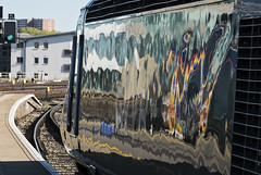Impressions of a Modern Railway (powern56) Tags: bristol bristoltemplemeads railwaystation passengertrain class43 43170 hst class800 800008 gwr greatwesternrailway reflections railway train