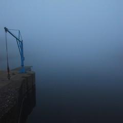 #60 (nicolas.eliard) Tags: france morning matin normandy normandie square carré nicolaseliard eliard bleu blue brouillard fog harbour port carentan
