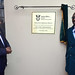 President Cyril Ramaphosa unveils the plague during the official opening of the Home Affairs Office in Kokstad, 03 October 2018