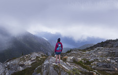 I. FORTITUDE .I (donpar) Tags: donpar images 2018 sourdough mountain ranges pacific northwest north cascades washington state trees ross lake clouds rocks elevation hikers hiking adventure moss rain summer fall weather