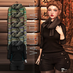 NEW!  Valentina E. Aly Sweater Ensemble @ The Chapter Four! (Valentina E./Evangeline Eames) Tags: mesh couture maitreya lara original exclusive fitted fit tcf chapterfour sweater jumper autumn cozy fashion