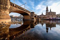 Augustusbrücke und Hofkirche (YaYapas) Tags: hdr d750 augustusbrücke 3xp elbe lightroomhdr nikon1635 katholischehofkirche brühlscheterrasse dresden sachsen deutschland de