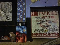 Lucid Dreams (misterbigidea) Tags: sf dreaming artwork art graffiti noparking door sign mysterious walkingaroundthecity night scenic urban city