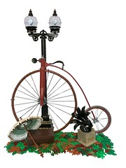 Day Out in Autumn (Melan-E) Tags: bicycle penny farthing wheel tires tyres cycle lamp parasol autumn phonograph basket lego afol moc brick 1890s vintage retro antique