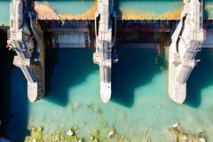 Stauwehr von oben (Marcel Cavelti) Tags: dji0014bearb hasselblad dji mavic2 drone stauwehr domatems ems rhein river grisons switzerland