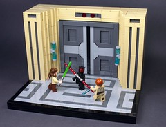Duel of the Fates (N-11 Ordo) Tags: starwars lego duelofthefates darthmaul quigon obiwan star wars build moc n11 ordo builder vignette naboo episode1 thephantommenace snot bricks brick lightsaber duel jedi sith minifigure