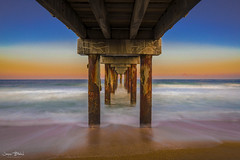 St. Johns County Pier at Sunset (Jason Blalock) Tags: staugustine staugustinefl staugustineflorida florida ocean sea historical oldestcity longexposure longexposurephotography pier beach sunset landscape seascape