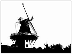 Greetsiel, windmills (unukorno) Tags: greetsiel windmill windmühle nordsee monochrome silhouette bw blackwhite sw frame building contrejour gegenlicht