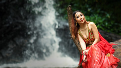 *** (Fevzi DINTAS) Tags: waterfall asia thailand pose portrait outdoor modeling styel fashion dress costume passion culture red light lady girl beautiful glory gorgeous graceful look waiting alone single looking elegance wedding artistic lovely cute pretty sweet charming paza140 nationalgeographic