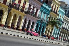 Havana (Sean Sweeney, UK) Tags: nikon dslr d750 havana cuba caribbean island vintage la habana lahabana old town oldtown car cars automobiles auto autos taxi taxis colour color colourful pink blue travel photography photo