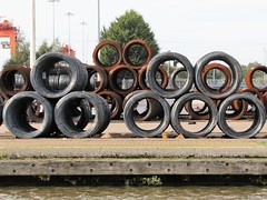 Coils Of Steel, Old & New. (Gary Chatterton 4 million Views) Tags: coils steel old new metal rust gooledocks goole docks water river flickr explore photography canonpowershot