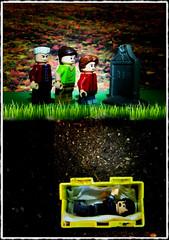 Six Feet Under (LegoKlyph) Tags: lego custom brick block mini figure art grave mistake buried dirt funeral coffin halloween dark horror fear claustrophobia