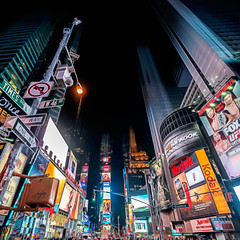 Time Square (Jacob Surland) Tags: architecture art building caughtinpixels city citybynight citylife cityscape contemporary country fineart fineartphotography highdynamicrange highrise highstreet jacobsurland light lights lowangleview modern newyork night northamerica officebuilding officetower shop shopping shoppingmall shoppingstreet skyscraper sprawling time tower travel traveldestination travelandtourism usa unitedstatesofamerica urban worklife
