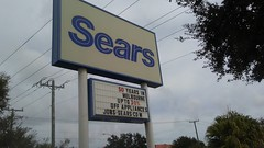 Sears, Where Melbourne Used to Shop! (pokemonprime) Tags: sears signage 50years anniversary melbourne fl bankruptcy brevard