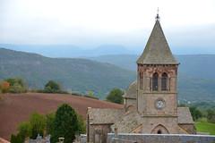 Eglise de Montjaux (Michel Seguret Thanks for 13.6 M views !!!) Tags: france aveyron montjaux porte door mur wall automne autumn fall bw nb michelseguret nikon d800 pro