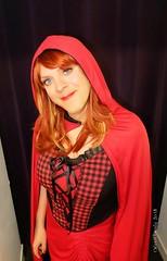 Halloween 5 (eileen_cd) Tags: halloween littleredridinghood redhead th crossdresser transvestite cd tv