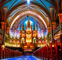 Notre Dame Basilica, Montreal 2 (fatyakfoto) Tags: notredame basilica montreal canada religion churchinterior