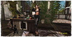 ArisArisB&W - Outfit (Lules_Brimm) Tags: female fashion vogue woman outfits jackets pants heells secondlife