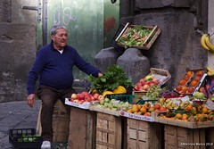 Fruit seller (maurizio.merico) Tags: naples ohhh napoli neapolis fall autumn borboni pic picoftheday italy europe day light seller buyer fruit grocers vegetables
