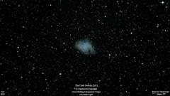 M1_Oct2018_HomCavObservatory_ReSizedDown2HD (homcavobservatory) Tags: homcav observatory crab nebula messier 1 m1 supernova remnant taurus canon 700d unmodded dslr 8inch f7 criterion newtonian reflector losmandy g11 mount 80mm short tube refractor zwo asi290mc planetary camera autoguider gemini 2 control system phd2 astronomy astrophotography