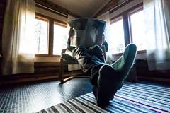 reading newspaper in a cottage (VisitLakeland) Tags: finland cottage indoor inside lukea mökki newspaper read relax room sanomalehti sisällä window