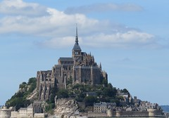 Le Mont-Saint-Michel (Traveling with Simone) Tags: montsaintmichel monastery fortress ramparts walls stones remparts ocean couënon sky city tower building wall rocks rochers france monastary monastère cloister abbaye