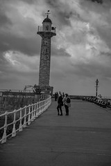 20181027_Whitby Oct 27 2018_229BW4 (ShakeyDave) Tags: whitby north yorkshire goth weekend october 2018 windy wind cold city coast sea sand surf people
