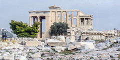 relics of an impressive past (rey perezoso) Tags: 2018 acropolis athens eu greece tree temple templo columns capital pillars city europa erechtheion historical historic ancient ruins ph404 unesco worldheritagesite day worldheritage