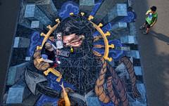 Bearing Witness (msuner48) Tags: d750 acr5 cs4 child people streetart chalk pacificnwchalkfest2018 redmondwa topazlabs nikcollection nikonafs24120mmf4ged