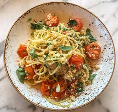 Spaghetti at Eveleigh - West Hollywood, CA (ChrisGoldNY) Tags: chrisgoldny chrisgoldphoto chrisgoldberg licensing forsale bookcover albumcover iphone california la losangeles cali socal westcoast america usa food foodie eater restaurants meals delicious yummy