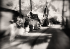 Key West shopping on the beach. Black and white impression. (Richard Denney) Tags: keywest infrared abstract impressionistic pictorialism streetphotography