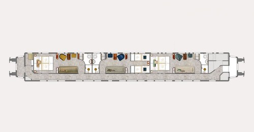 Venice Simplon-Orient-Express Grand Suite Car plan