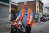 Scruffs (Kyre Wood) Tags: south london dog bicycle geezer high visibility vest portrait